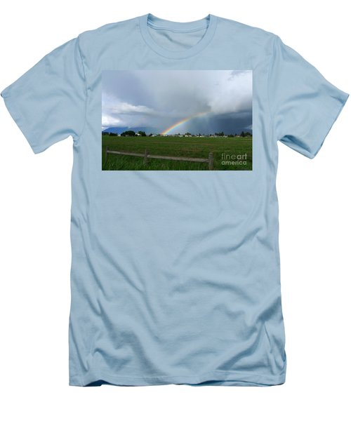Rainbow Before The Storm Men's T-Shirt (Athletic Fit)