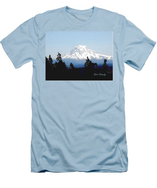 Rainier Reign Men's T-Shirt (Slim Fit) by Sadie Reneau