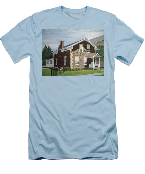 Men's T-Shirt (Slim Fit) featuring the painting Rasey House by Norm Starks