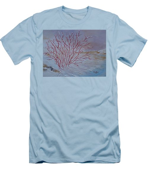 Red Branches Men's T-Shirt (Slim Fit) by Judith Rhue