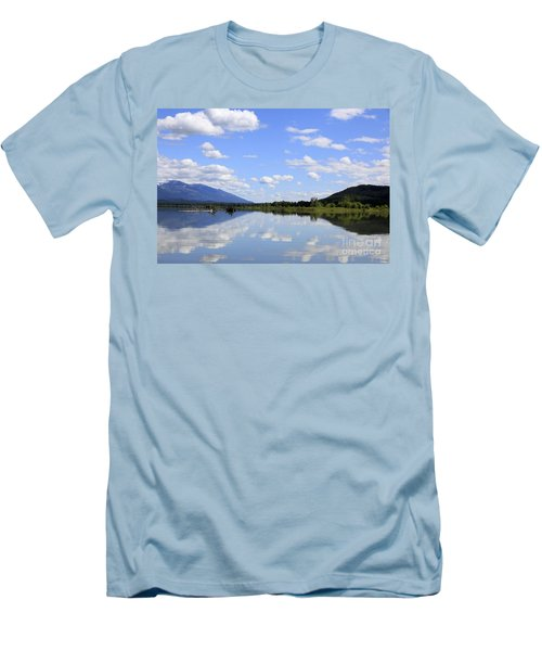 Men's T-Shirt (Slim Fit) featuring the photograph Reflections On Swan Lake by Nina Prommer