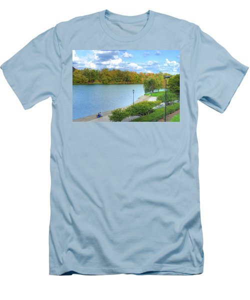 Men's T-Shirt (Slim Fit) featuring the photograph Relaxing At Hoyt Lake by Michael Frank Jr