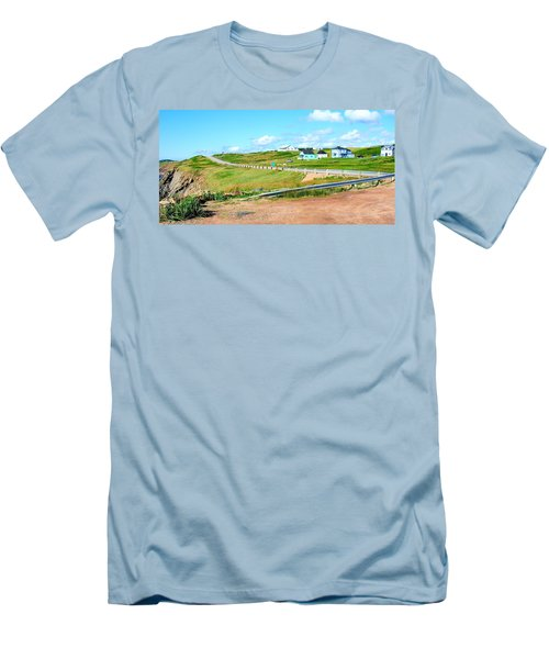 Men's T-Shirt (Slim Fit) featuring the photograph Road Trip In Cape Breton Nova Scotia by Joe  Ng