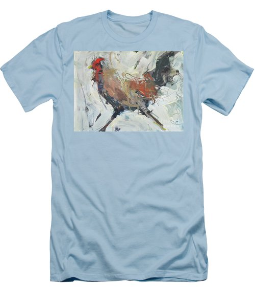 Rooster Art  Men's T-Shirt (Athletic Fit)