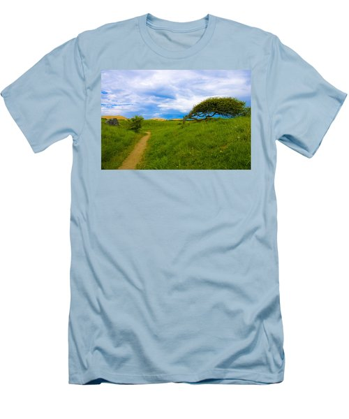 Rubjerg Path Men's T-Shirt (Slim Fit) by Mike Santis