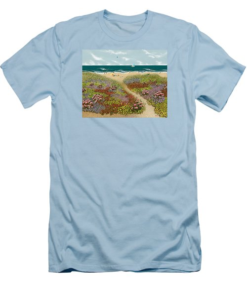 Sand Path Men's T-Shirt (Slim Fit) by Katherine Young-Beck