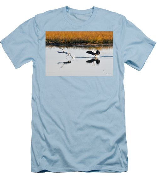 Men's T-Shirt (Slim Fit) featuring the photograph Scram by Kay Lovingood
