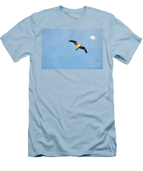 Men's T-Shirt (Slim Fit) featuring the photograph Seagull by Luciano Mortula