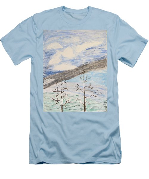 Men's T-Shirt (Slim Fit) featuring the painting Shades Of Nature by Sonali Gangane