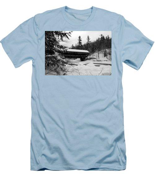 Snow Covered Bridge Men's T-Shirt (Athletic Fit)
