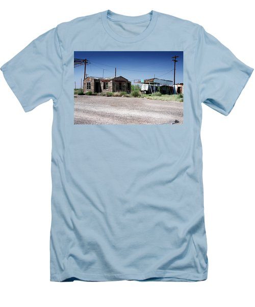 Men's T-Shirt (Slim Fit) featuring the photograph Somewhere On The Old Pecos Highway Number 8 by Lon Casler Bixby