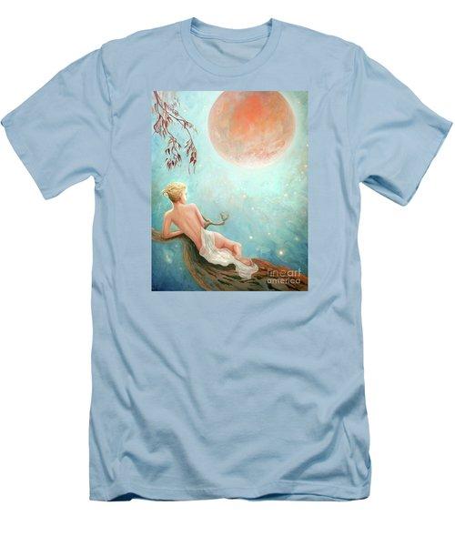 Strawberry Moon Nymph Men's T-Shirt (Slim Fit) by Michael Rock
