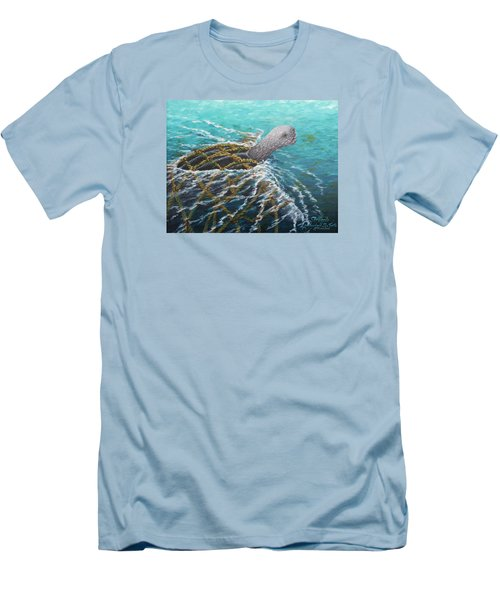 Struggle -leatherback Sea Turtle Men's T-Shirt (Athletic Fit)