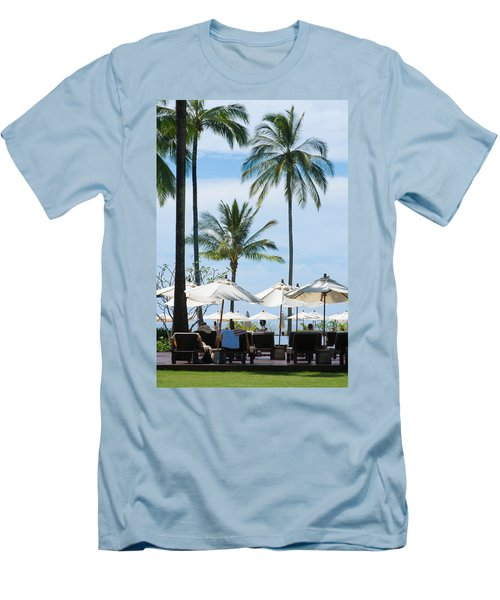 Sunbath Near The Pool Men's T-Shirt (Slim Fit) by Atiketta Sangasaeng
