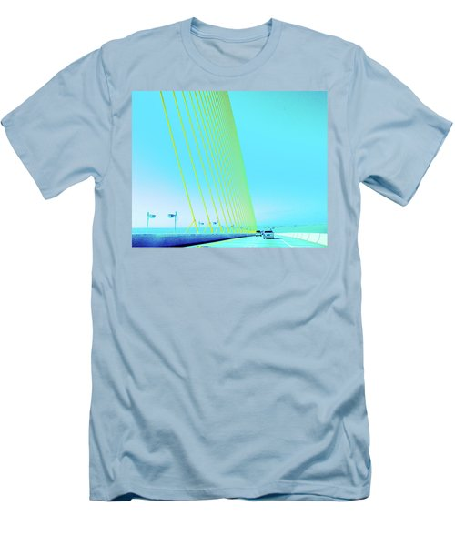Men's T-Shirt (Slim Fit) featuring the photograph Sunshine  Bridge by Lizi Beard-Ward
