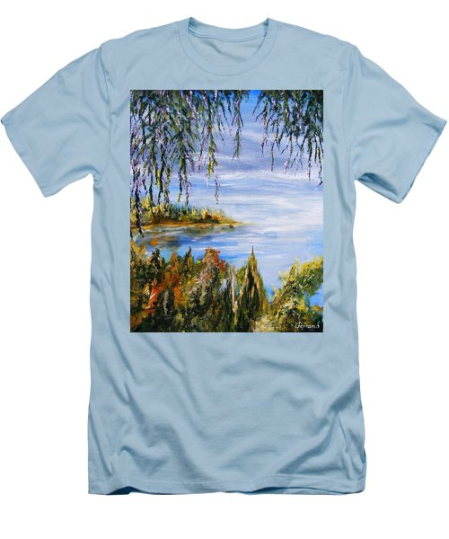 The Cove Men's T-Shirt (Slim Fit) by Karen  Ferrand Carroll