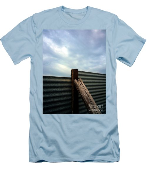 The Fence The Sky And The Beach Men's T-Shirt (Slim Fit) by Andy Prendy