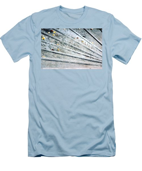 Men's T-Shirt (Slim Fit) featuring the photograph The Marble Steps Of Life by Vicki Ferrari