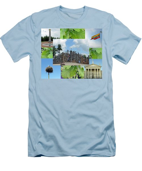 Men's T-Shirt (Athletic Fit) featuring the photograph This Is Lietuva- Lithuania by Ausra Huntington nee Paulauskaite