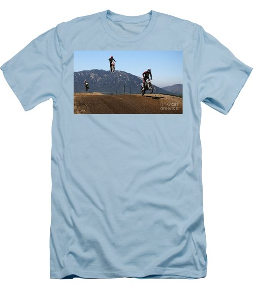 Three In The Air Men's T-Shirt (Slim Fit) by Vivian Christopher