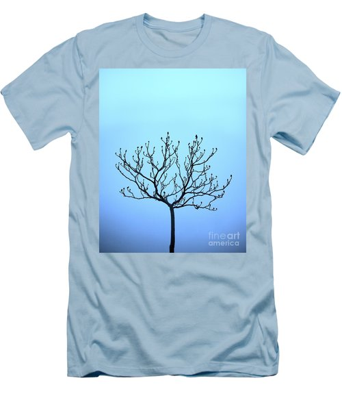 Tree With The Blues Men's T-Shirt (Slim Fit) by Chris Dutton