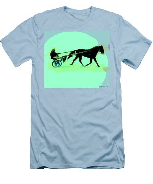 Men's T-Shirt (Slim Fit) featuring the photograph Trotter by George Pedro