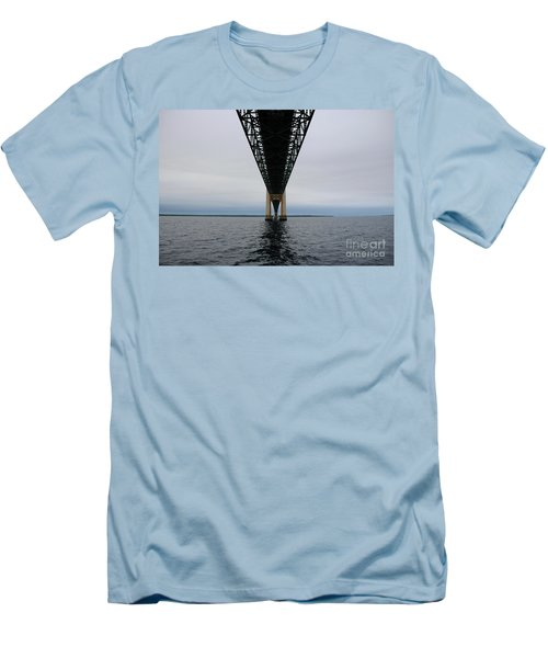 Under The Mackinac Bridge Men's T-Shirt (Athletic Fit)