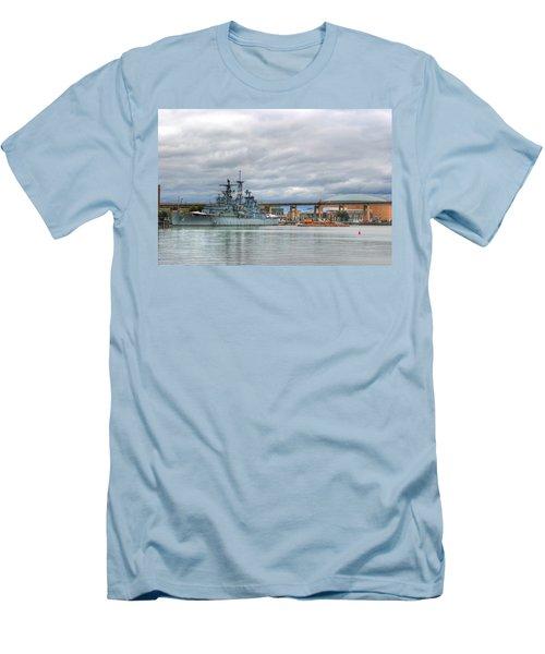 Men's T-Shirt (Slim Fit) featuring the photograph Uss Little Rock by Michael Frank Jr