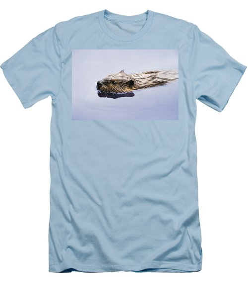 View Of Beaver, Chaudiere-appalaches Men's T-Shirt (Slim Fit) by Yves Marcoux