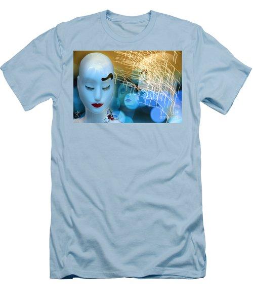 Men's T-Shirt (Slim Fit) featuring the digital art Virginal Shyness by Rosa Cobos
