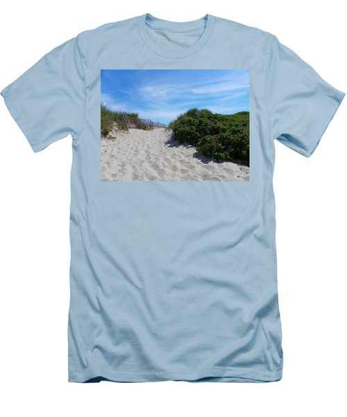 Walking Through The Dunes Men's T-Shirt (Athletic Fit)