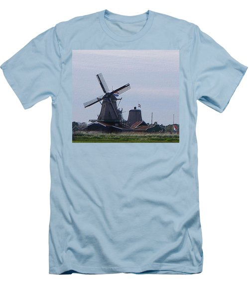 Windmill Men's T-Shirt (Slim Fit) by Manuela Constantin