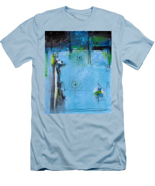 Winter Men's T-Shirt (Slim Fit) by Nicole Nadeau