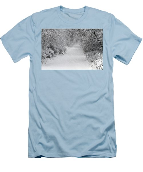 Men's T-Shirt (Slim Fit) featuring the photograph Winter's Trail by Elizabeth Winter
