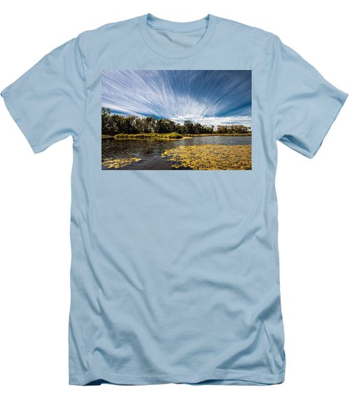Men's T-Shirt (Slim Fit) featuring the photograph You Cannot Be Cirrus by Tom Gort