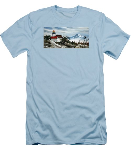 Point Robinson Lighthouse And Mt. Rainier Men's T-Shirt (Athletic Fit)