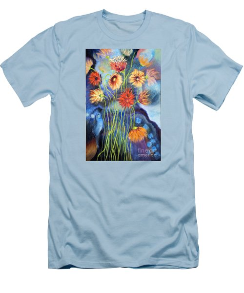 01314 African Daisies Men's T-Shirt (Slim Fit) by AnneKarin Glass