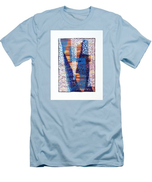 01325 Blue Too Men's T-Shirt (Slim Fit) by AnneKarin Glass