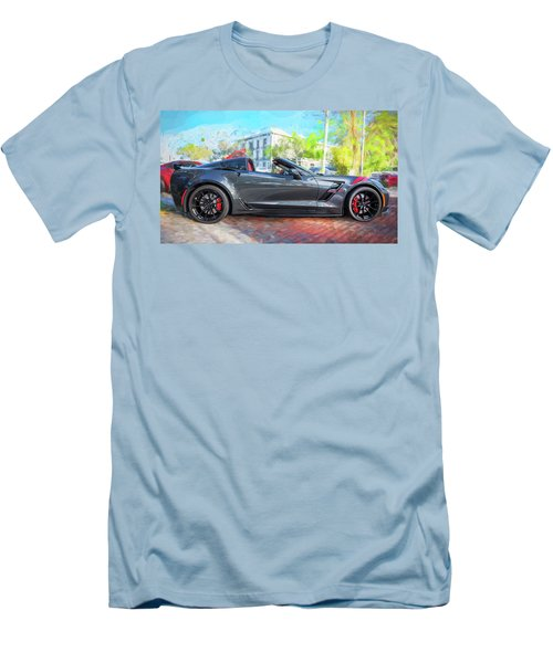 Men's T-Shirt (Slim Fit) featuring the photograph 2017 Chevrolet Corvette Gran Sport  by Rich Franco
