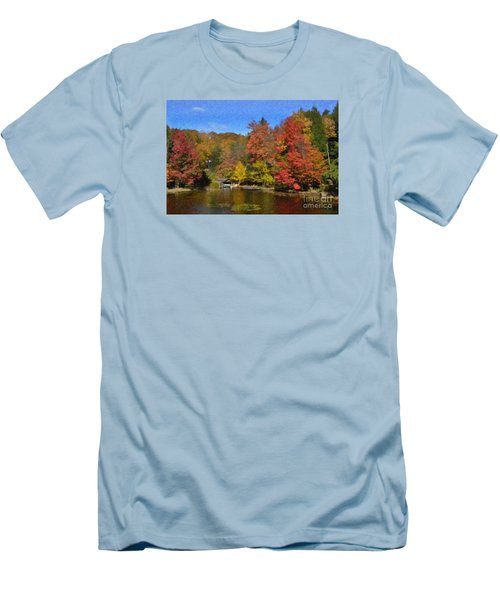 A Little Piece Of Adirondack Heaven Men's T-Shirt (Slim Fit) by Diane E Berry