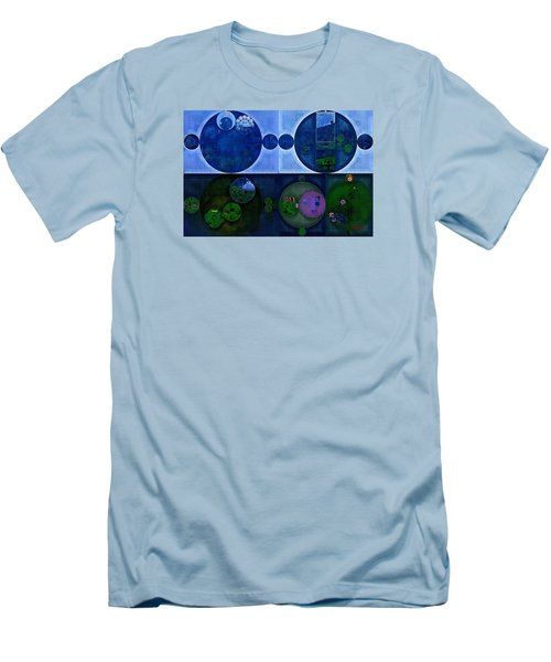Men's T-Shirt (Slim Fit) featuring the digital art Abstract Painting - Saint Patrick Blue by Vitaliy Gladkiy