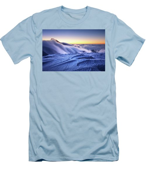 Amazing Foggy Sunset At Mountain Peak In Mala Fatra, Slovakia Men's T-Shirt (Athletic Fit)