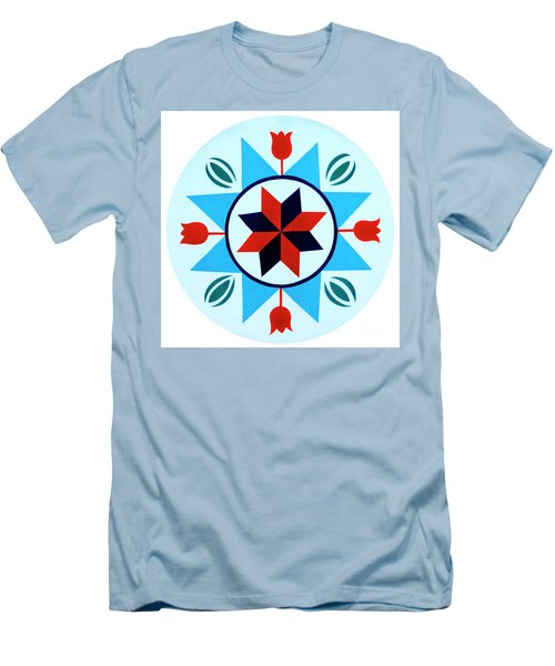 Men's T-Shirt (Slim Fit) featuring the photograph Amish Hex Design by Paul W Faust - Impressions of Light