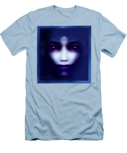 Angel  Blue Men's T-Shirt (Slim Fit) by Hartmut Jager