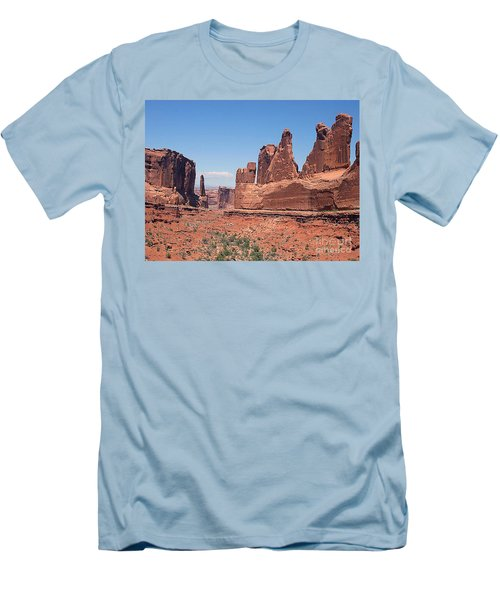 Arches National Park Panorama Men's T-Shirt (Slim Fit) by Merton Allen