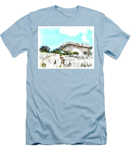 Arzachena Mushroom Rock Men's T-Shirt (Athletic Fit)