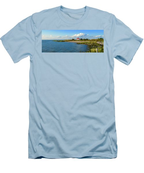 Autumn At East Point Lighthouse Men's T-Shirt (Athletic Fit)