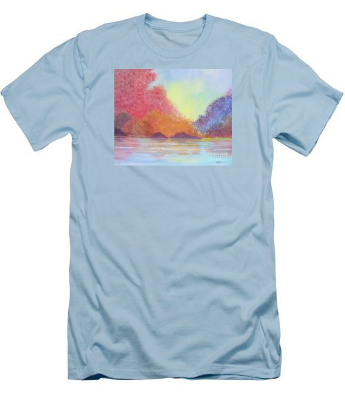 Men's T-Shirt (Slim Fit) featuring the painting Autumn's Aura by Stacey Zimmerman