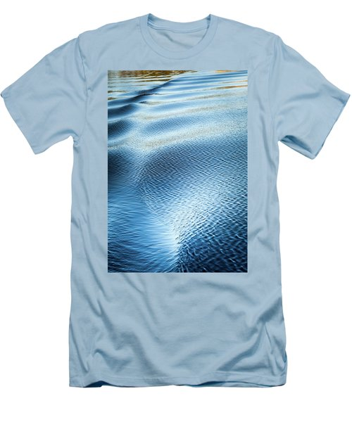 Men's T-Shirt (Slim Fit) featuring the photograph Blue On Blue by Karen Wiles
