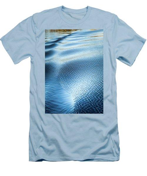 Blue On Blue Men's T-Shirt (Slim Fit) by Karen Wiles